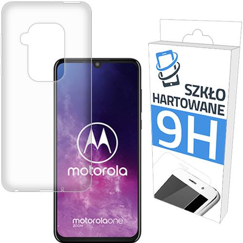 Etui Slim Case+szkło HARTOWANEdo Motorola One Zoom