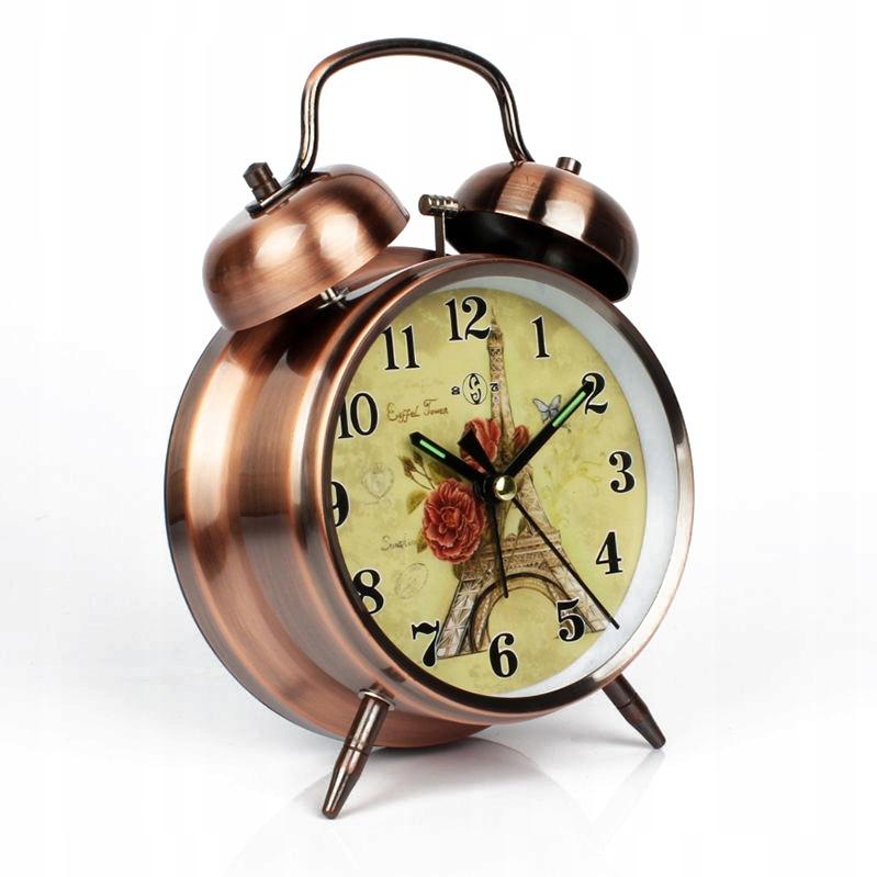 Металлические часы с будильником для детей