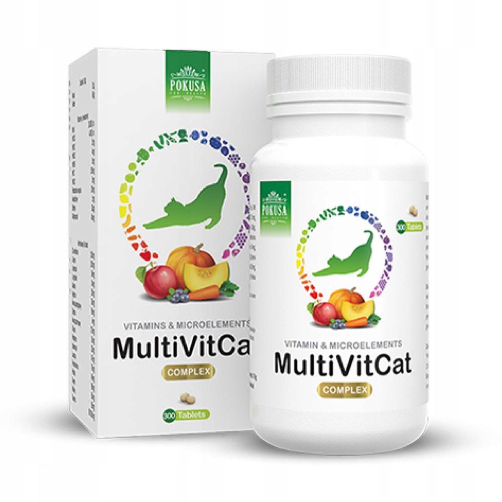 Покуса GreenLine MultiVit Cat 300 tab. кошачьи витамины