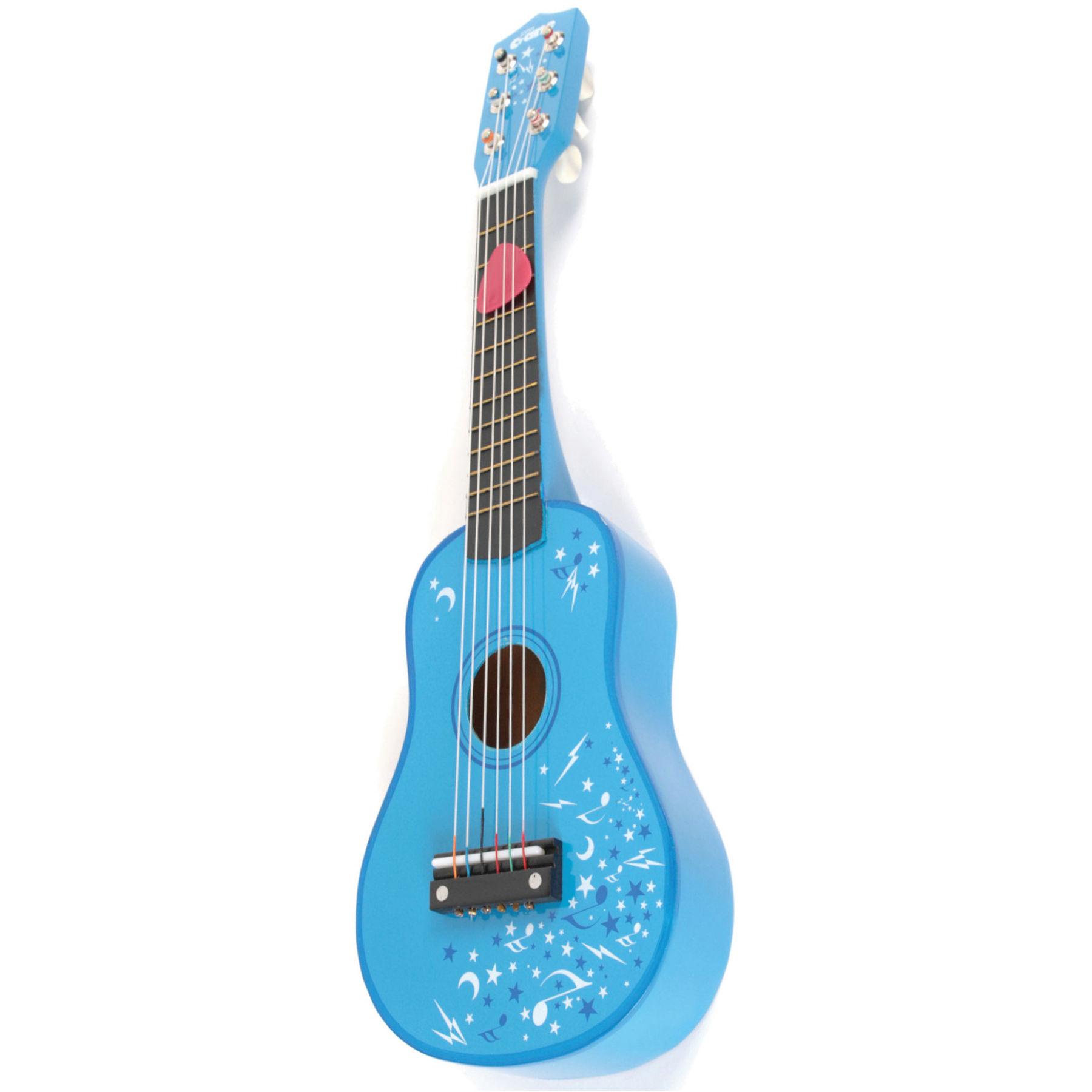 Gitara pre deti klasické modré 53 cm drevo