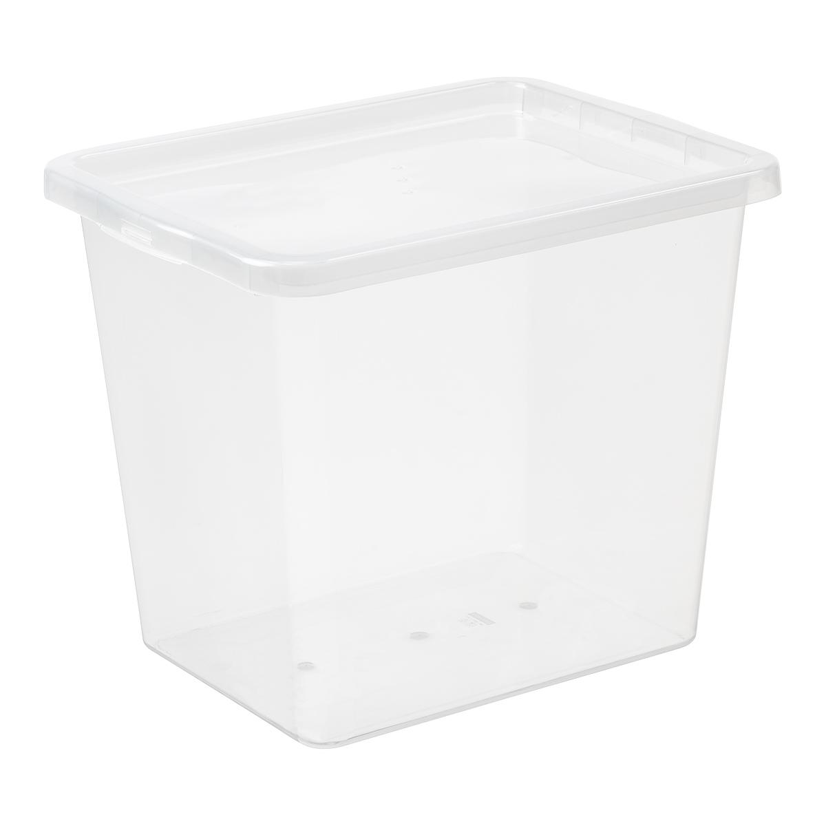 Контейнер-сундук, пластиковый ящик с крышкой 30л