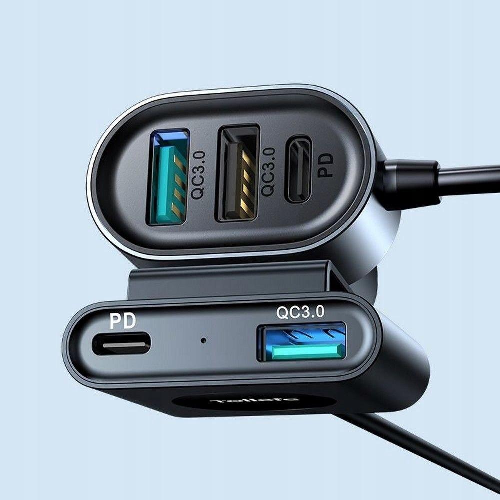 Ładowarka Samochodowa 72W 5-portów USB (JR-CL05) EAN 3781853810356