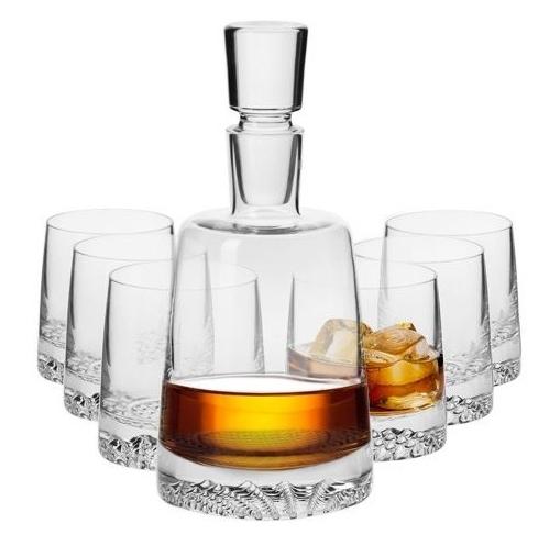 Fjord komplet 6+1 karafka szklanki whisky KROSNO