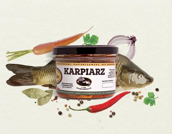 KARPIARZ 200g paprykarz rybny karp Bełżec
