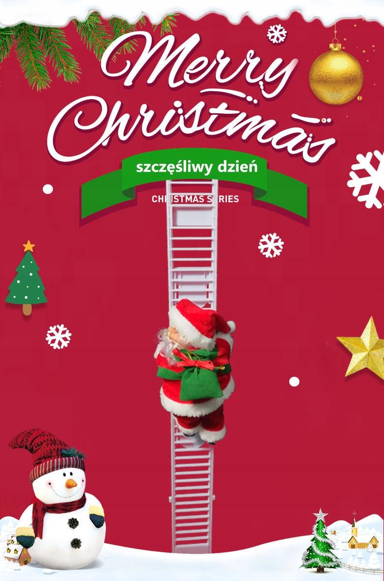 elektrický rebrík santa claus vianoce