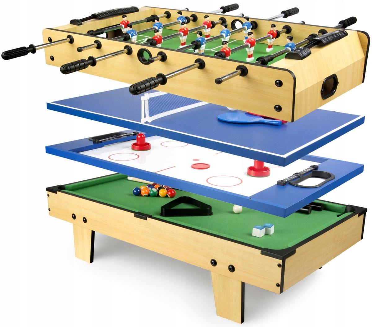 Multi stół для gier 4w1 Piłkarz Tenis Bilard Hokej