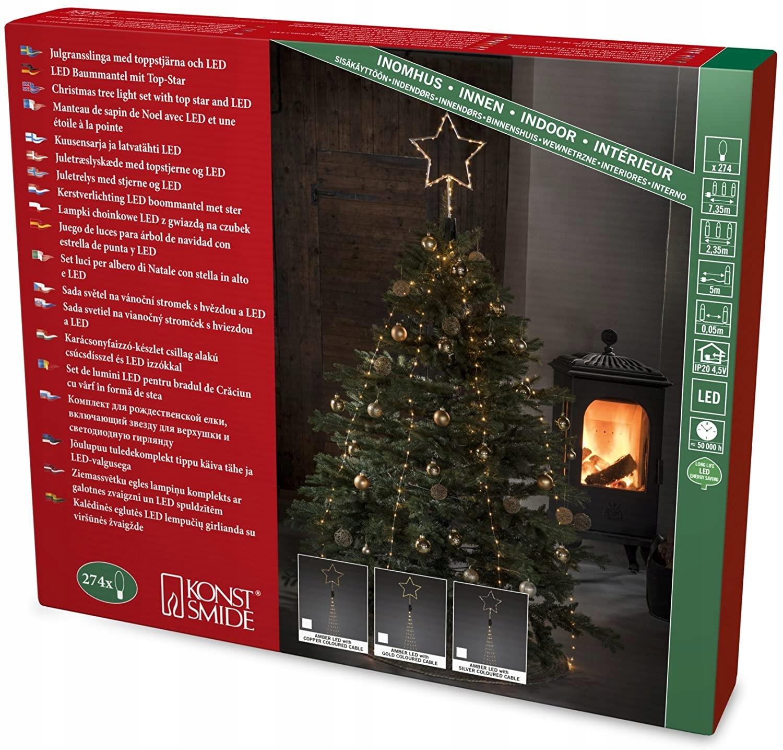Hviezdne osvetlenie vianočného stromčeka, reťaze Konstsmide