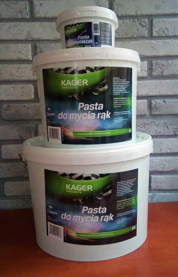KAGER оригинальная паста для мытья рук OHP 10 литров вес продукта с единичной упаковкой 7,9 кг