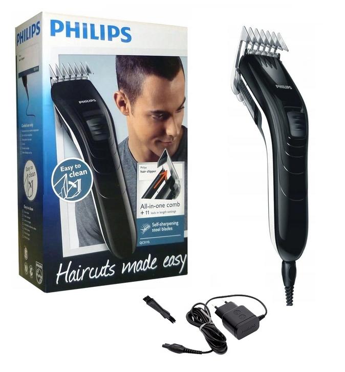 Philips QC5115 / 15 hårklipper Tilleggsfunksjoner Smørefrie og vedlikeholdsfrie kniver