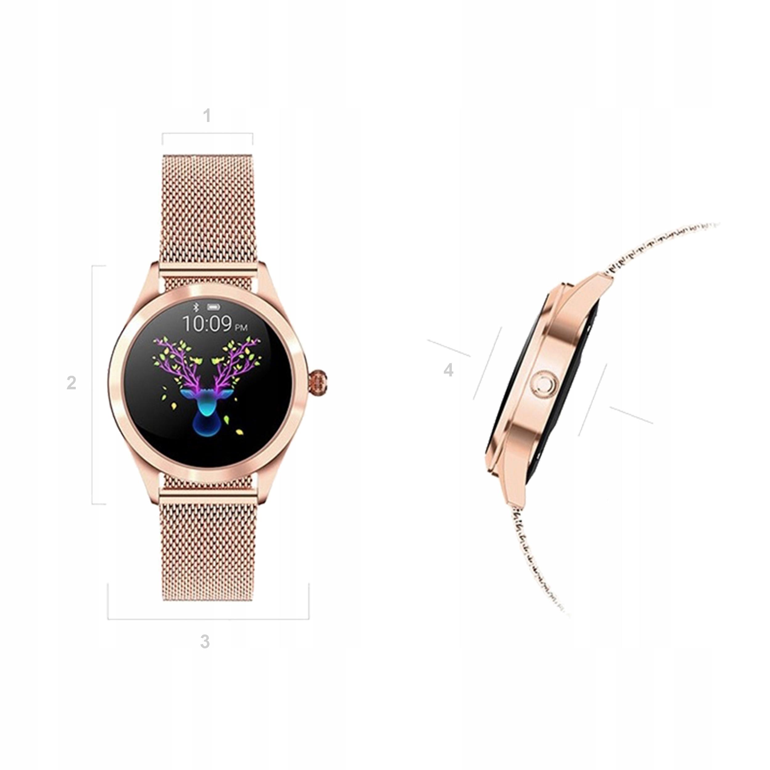 Kvinners smartklokke KW10 OLED DESIGN trinn pulssyklus Veske materiale annet metall