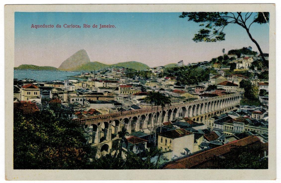 Pocztówka 1921 Brazylia Rio de Janeiro akwedukt