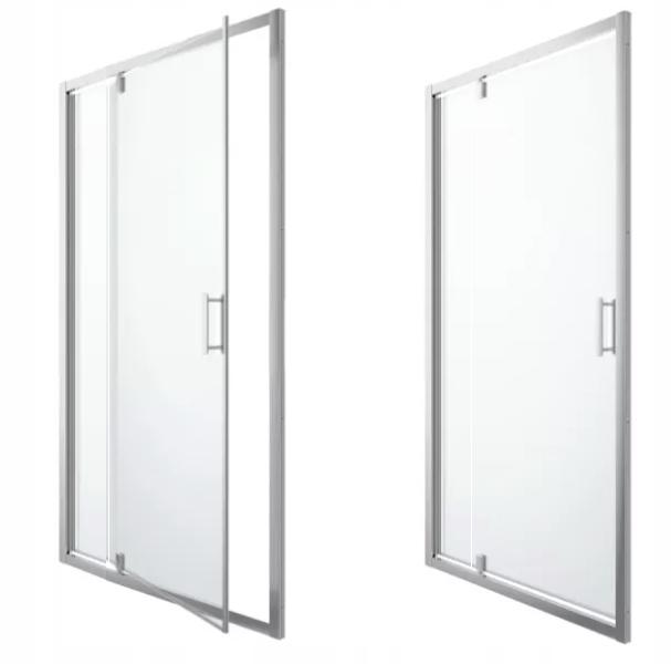 Душевая дверь 140 см с наклонным стеклом 8 мм