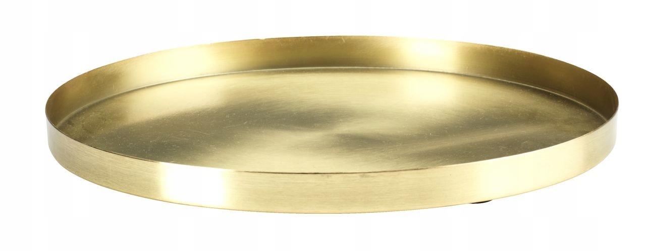 Taca dekoracyjna ozdobna złoty mosiądz 30 cm FRITS