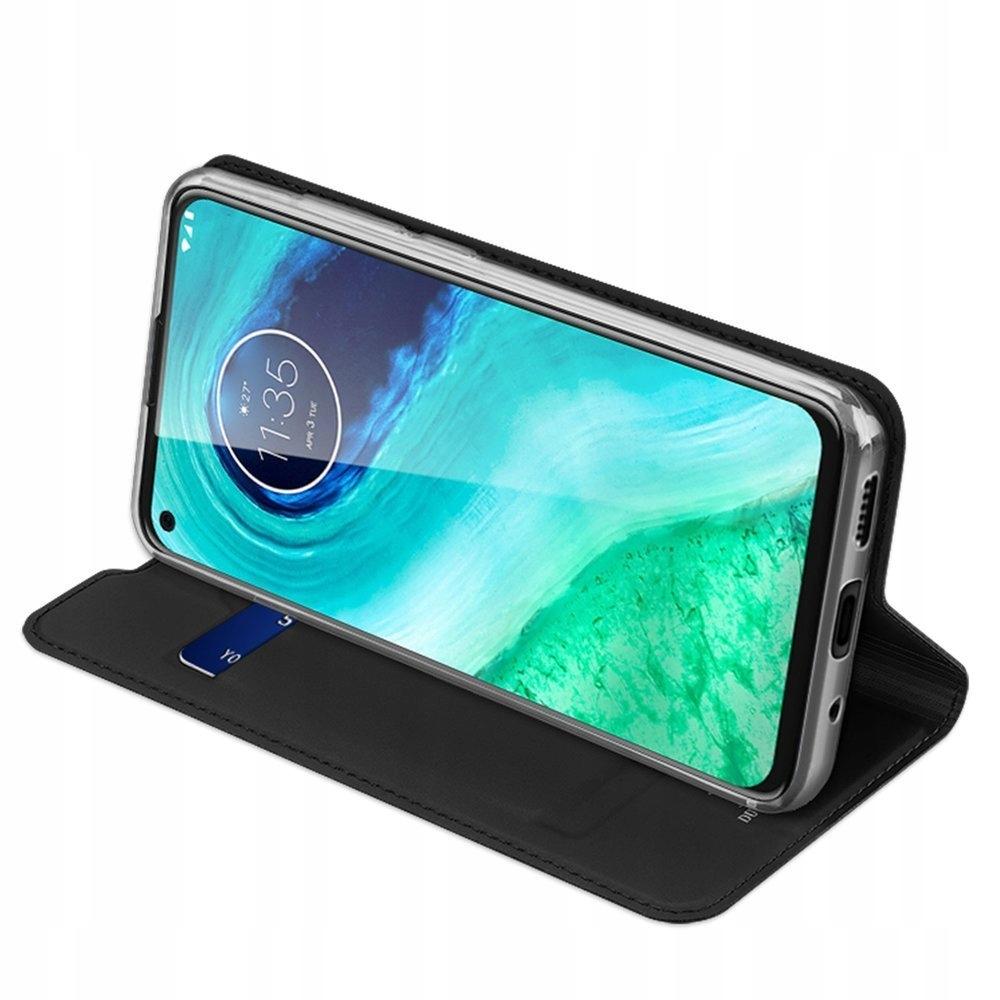 Etui DUX DUCIS + szkło do Motorola Moto G8 czarny Materiał skóra ekologiczna