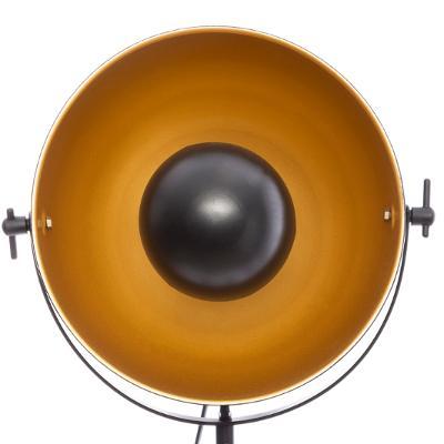 LAMPA INDUSTRIALNA PODŁOGOWA TRÓJNÓG LOFT CZARNA Kolor czarny żółty i złoty