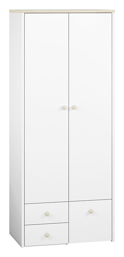 Szafa ELMO 02 ML MEBLE dla dzieci szuflady biała