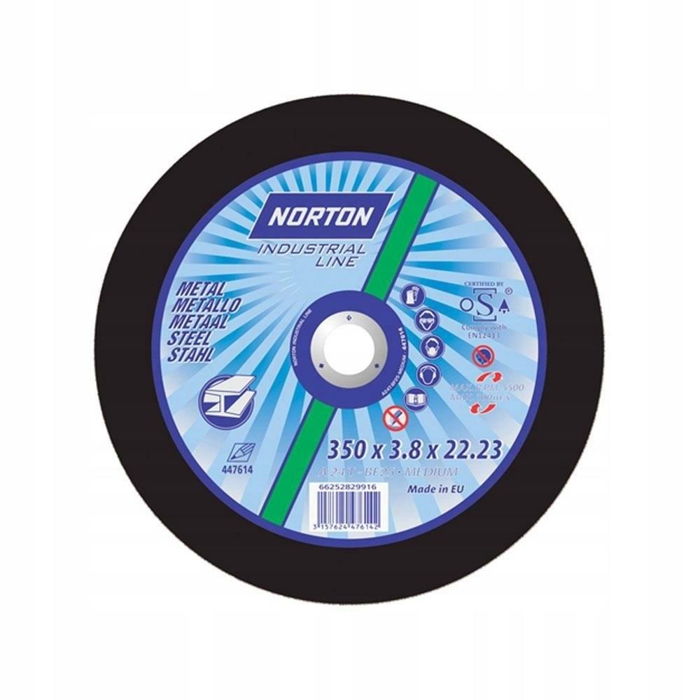 Kotúč na rezanie kovov Norton 350x3,8x20 mm