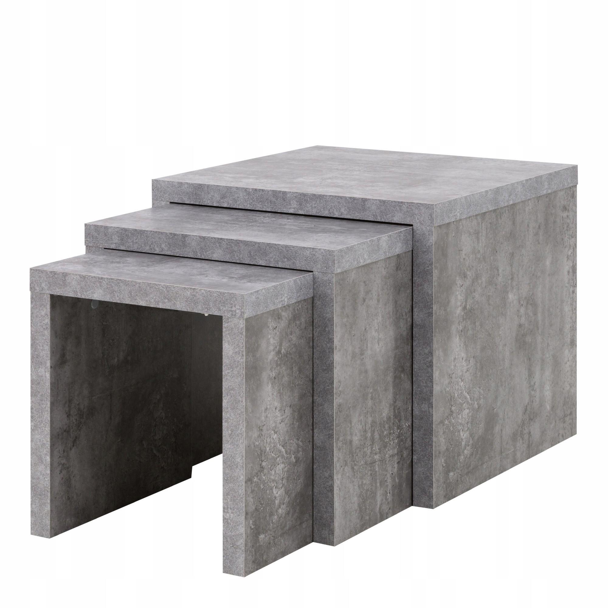 Ława stolik kawowy zestaw 3 w 1 beton