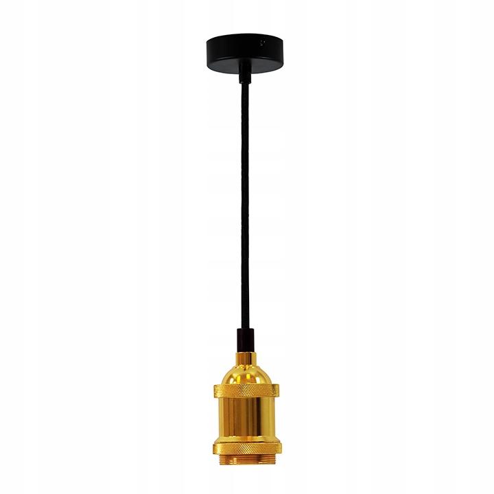 Závesné závesné svietidlo pre žiarovku E27 Golden Retro
