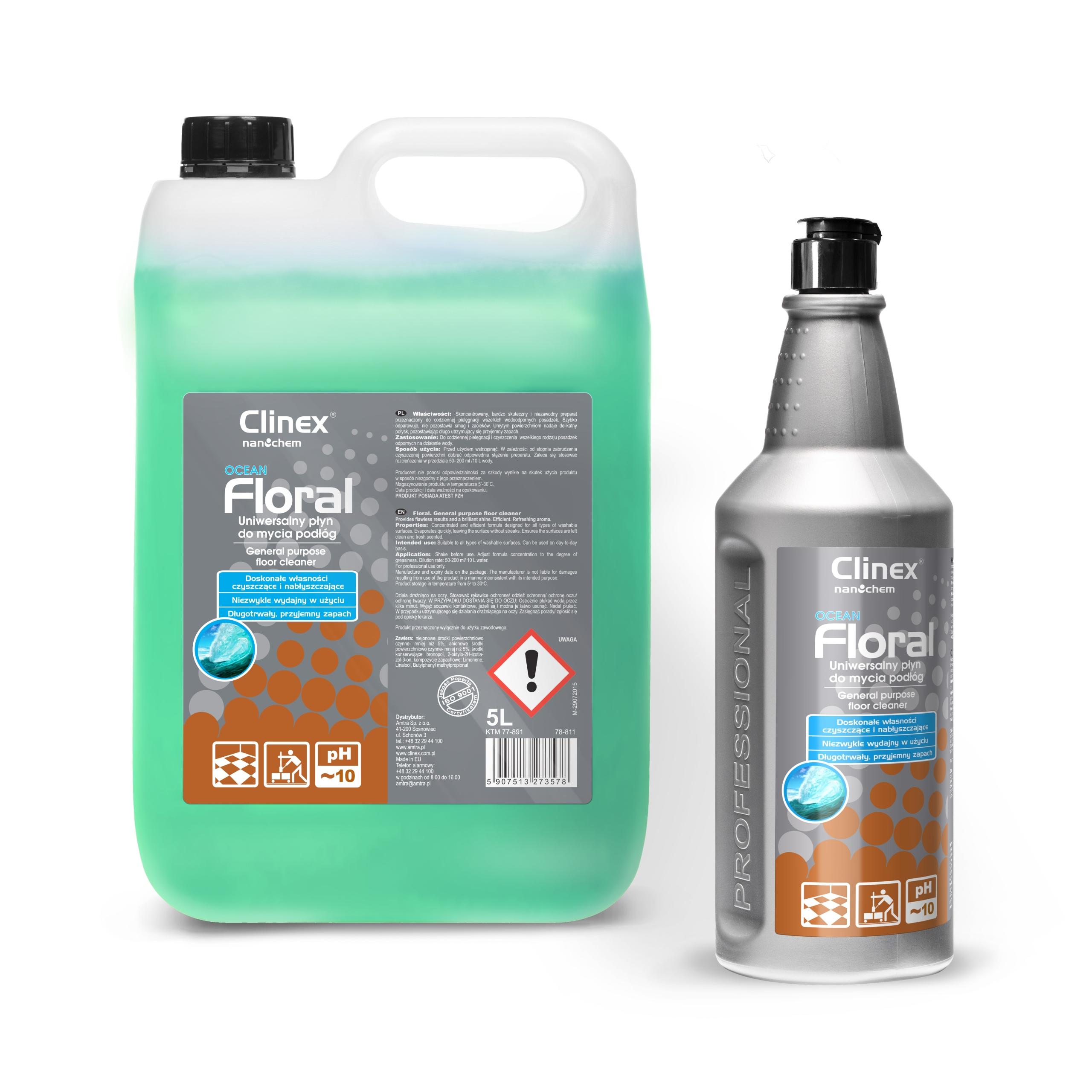 CLINEX FLORAL OCEAN Средство для мытья полов 5 л