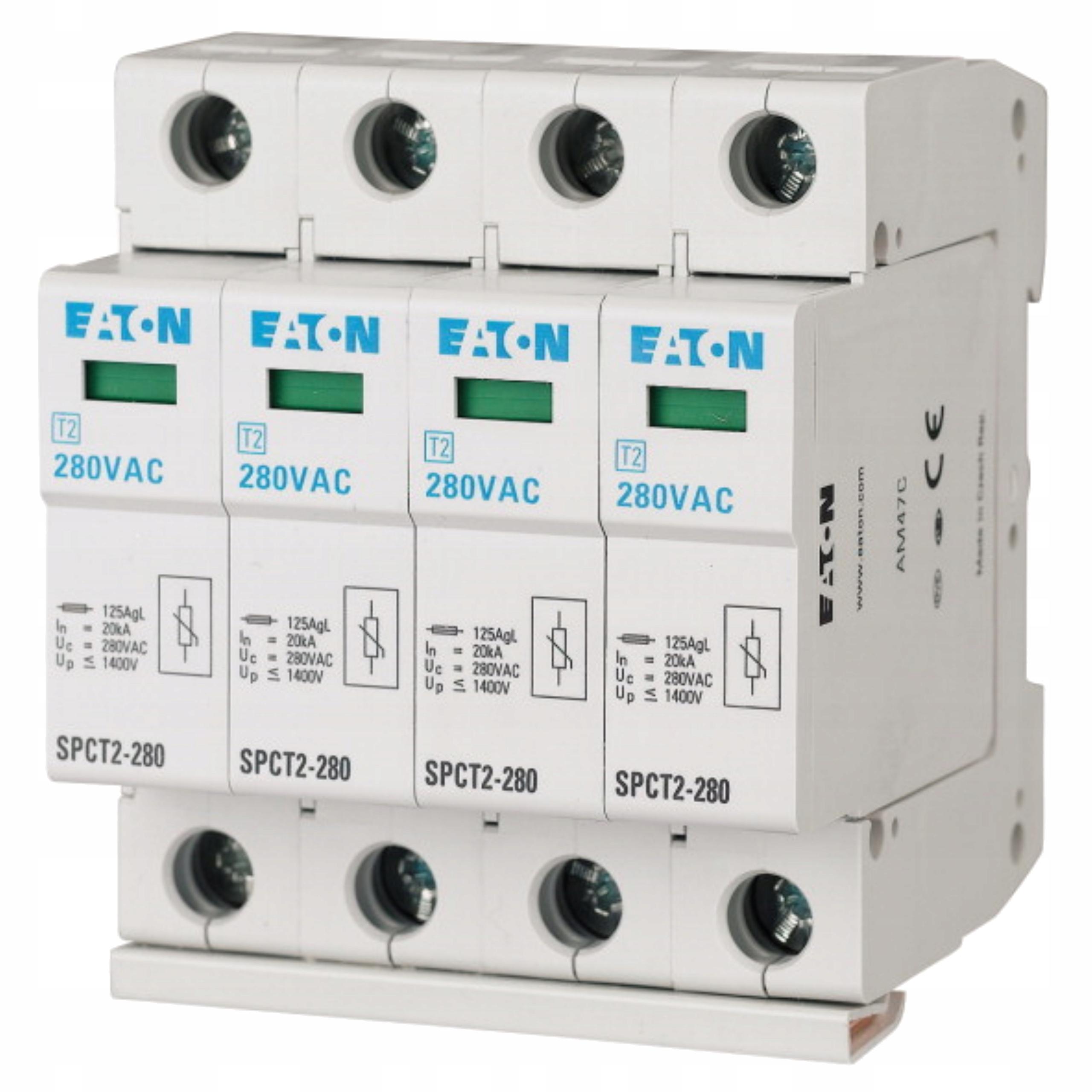 Ogranicznik przepięć SPCT2-280/4 C 4P 20kA, Typ 2