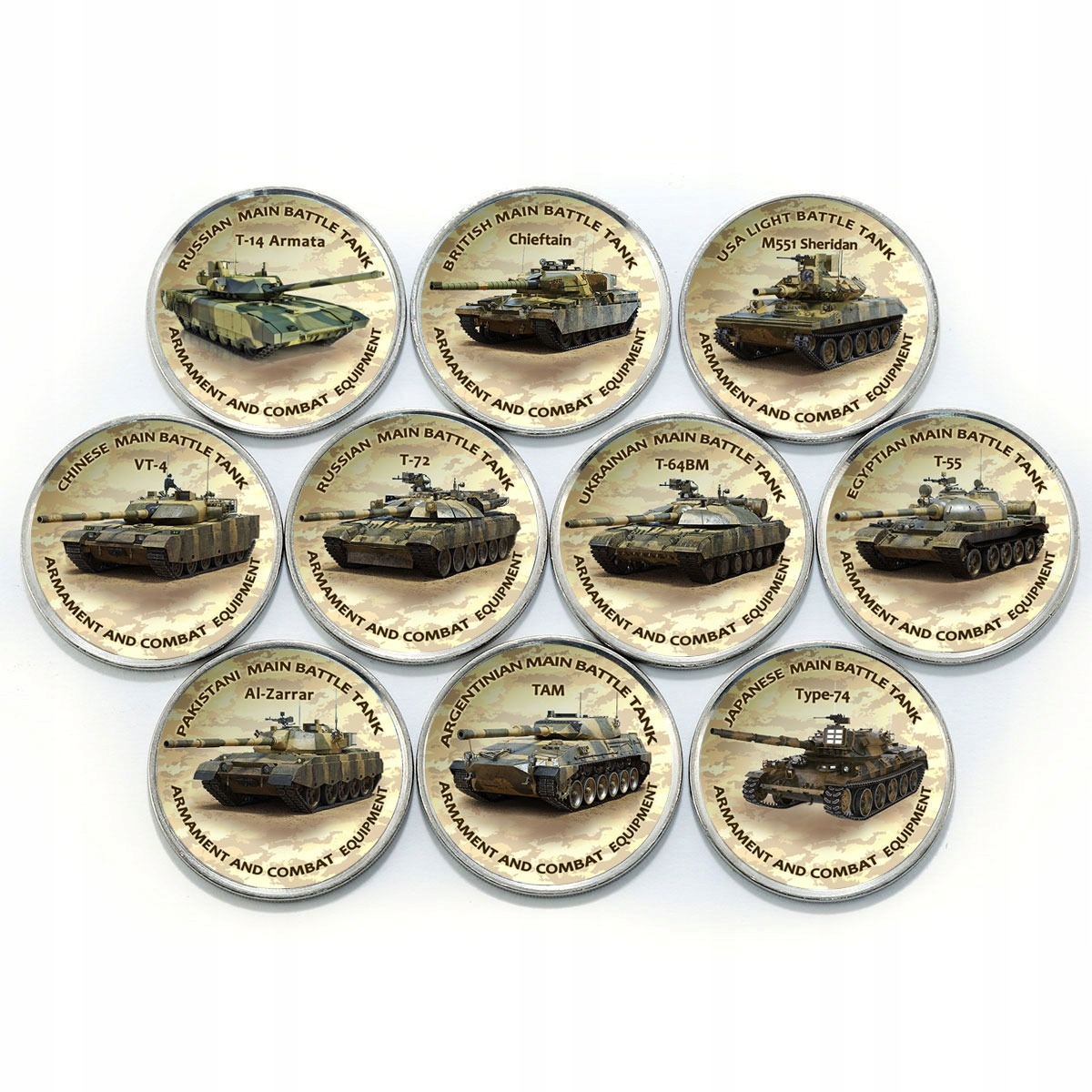 ZIMBABWE zestaw 10 monet czołgi IV SERIA 2020