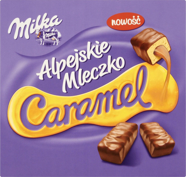 Milka Alpejskie Mleczko со вкусом карамели 330 г