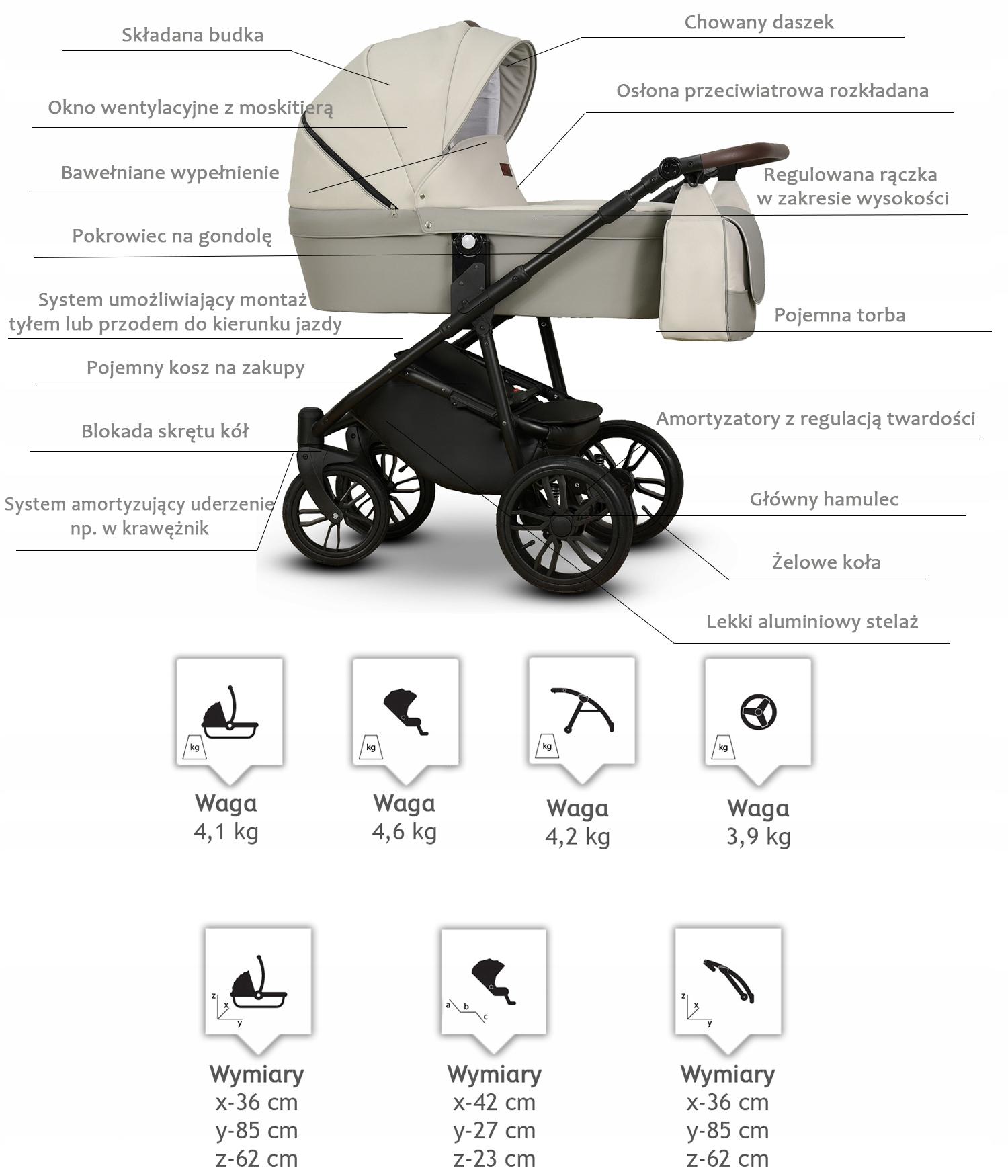 Купить Nomi детская коляска гондола + автокресло на Otpravka - цены и фото - доставка из Польши и стран Европы в Украину.