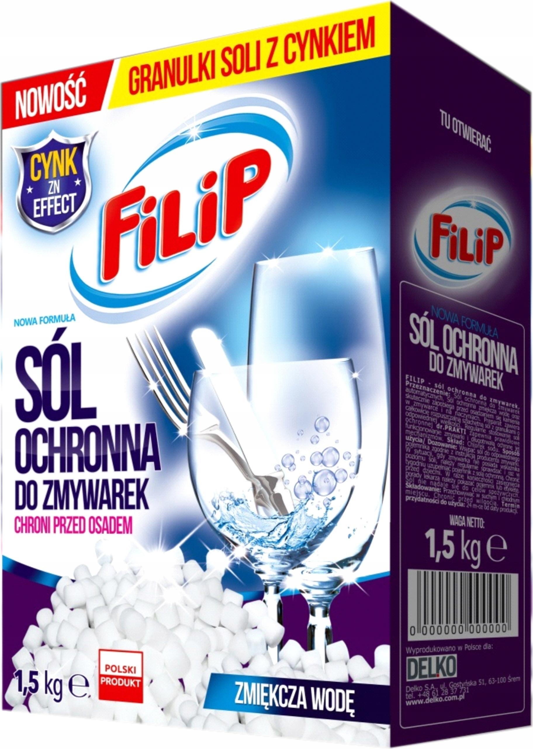 Соль для посудомоечной машины Filip 1,5 кг