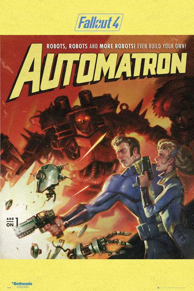 Купить Fallout 4 Automatron - постер 61x91,5 см на Otpravka - цены и фото - доставка из Польши и стран Европы в Украину.