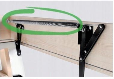 Schody strychowe Właz LONG TERMO 120/70 OMAN H 330 Kod produktu LONG TERMO 120X70