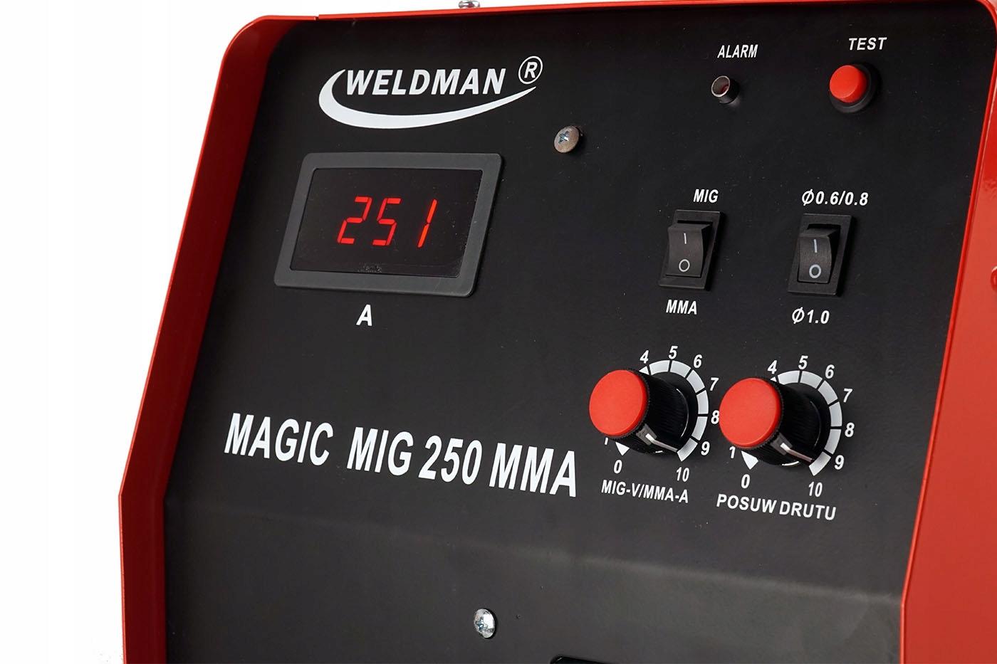 Spawarka MIGOMAT 2w1 Weldman MIG 200 MMA 4x4 Kod producenta Weldman MAGIC MIG 250 XRS6