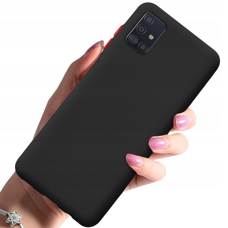 Etui do Samsung Galaxy A51 Case Silikon + Szkło 9H Dedykowany model Samsung Galaxy A51