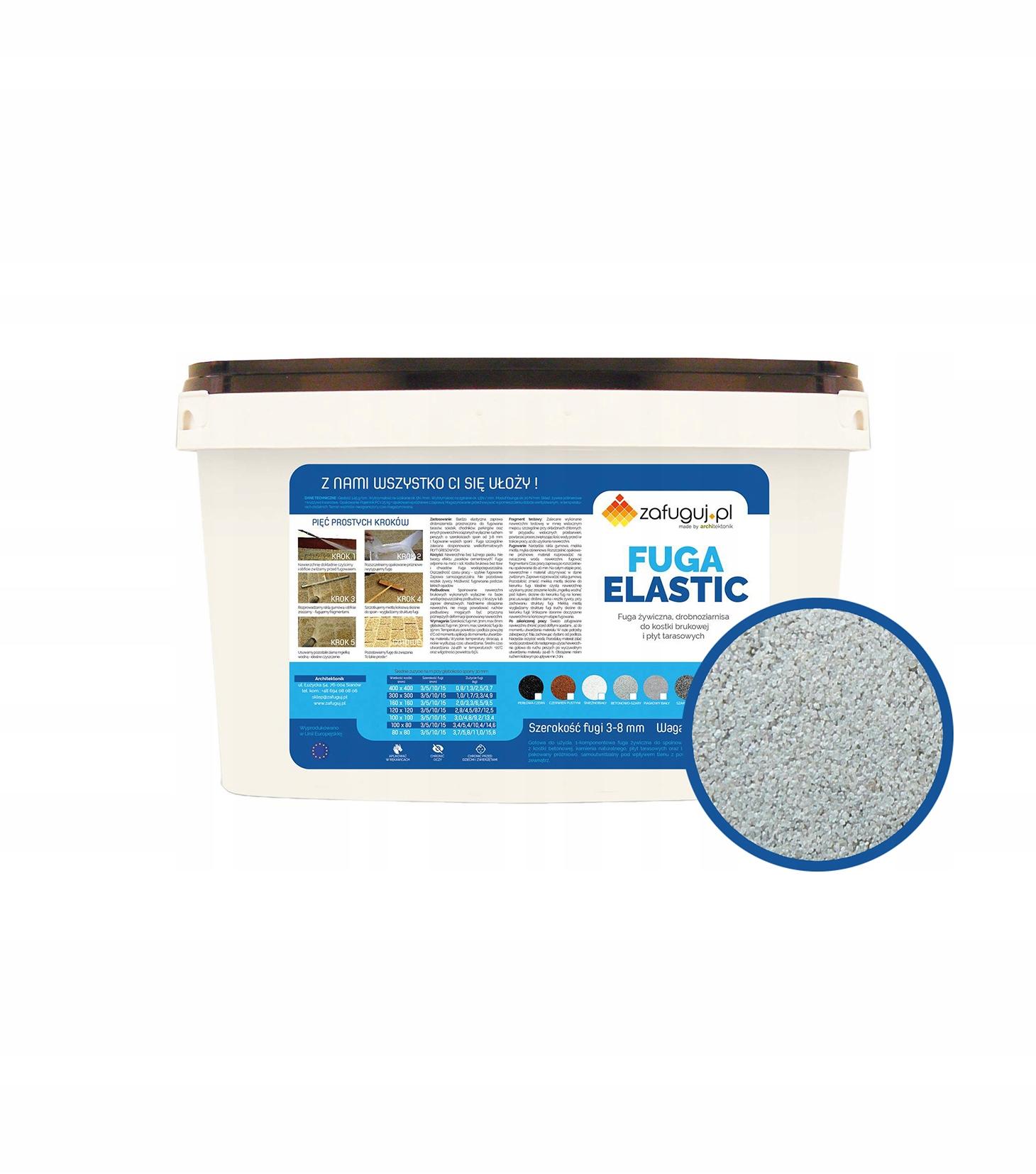 Смешайте эластичный раствор - бетонно-серый / смоляной раствор