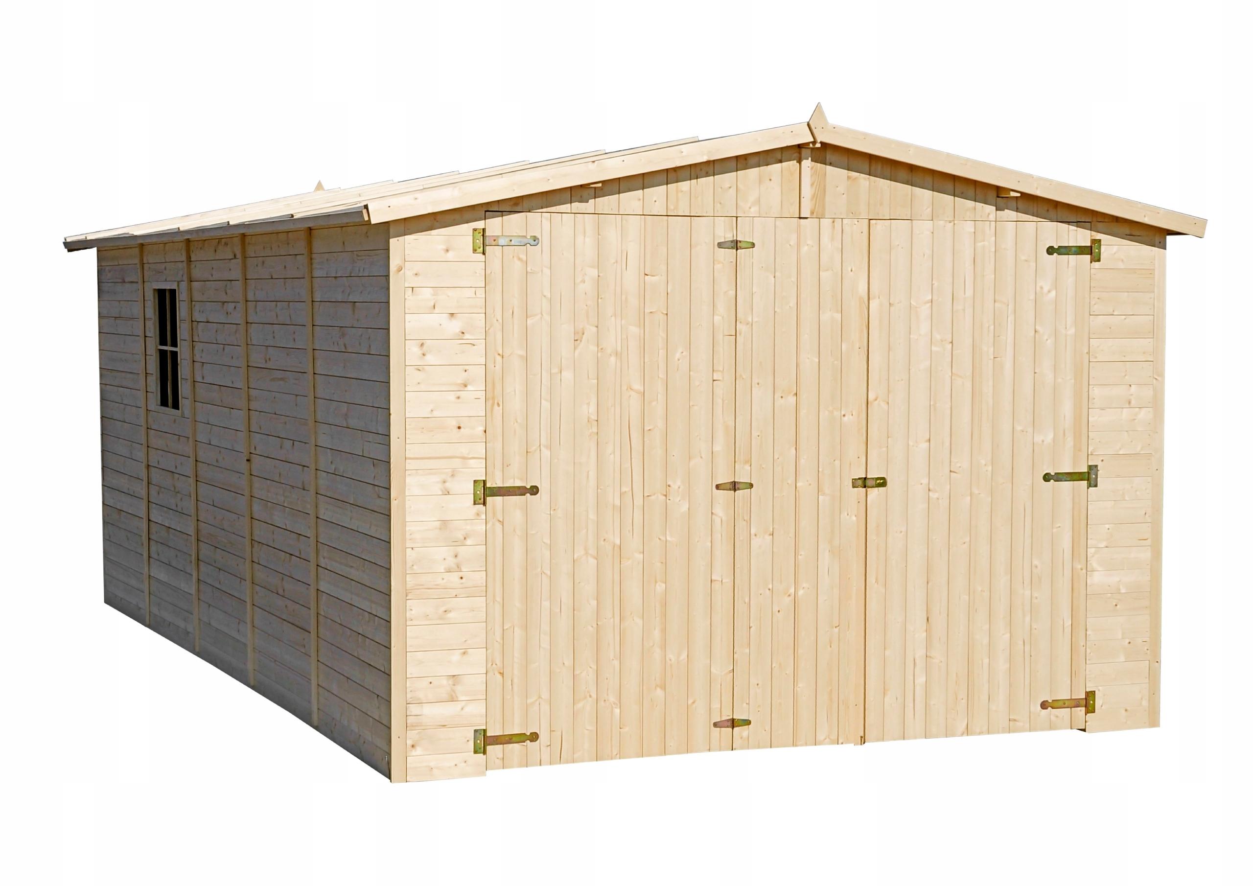 Timbela M101 Drewniany garaż - 15 m²