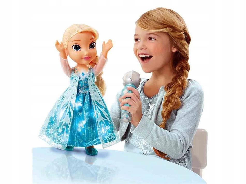 ŚPIEWAJĄCA ELSA Z MIKROFONEM KRAINA LODU WERSJA PL Marka Disney