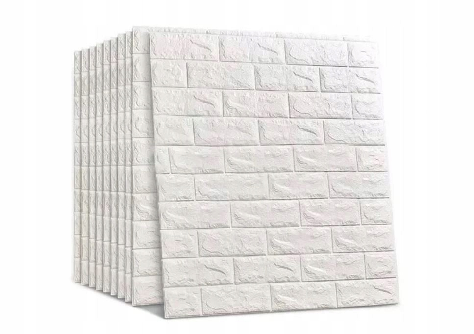 20X Клейкая Плитка Обои 3D Кирпич Белый