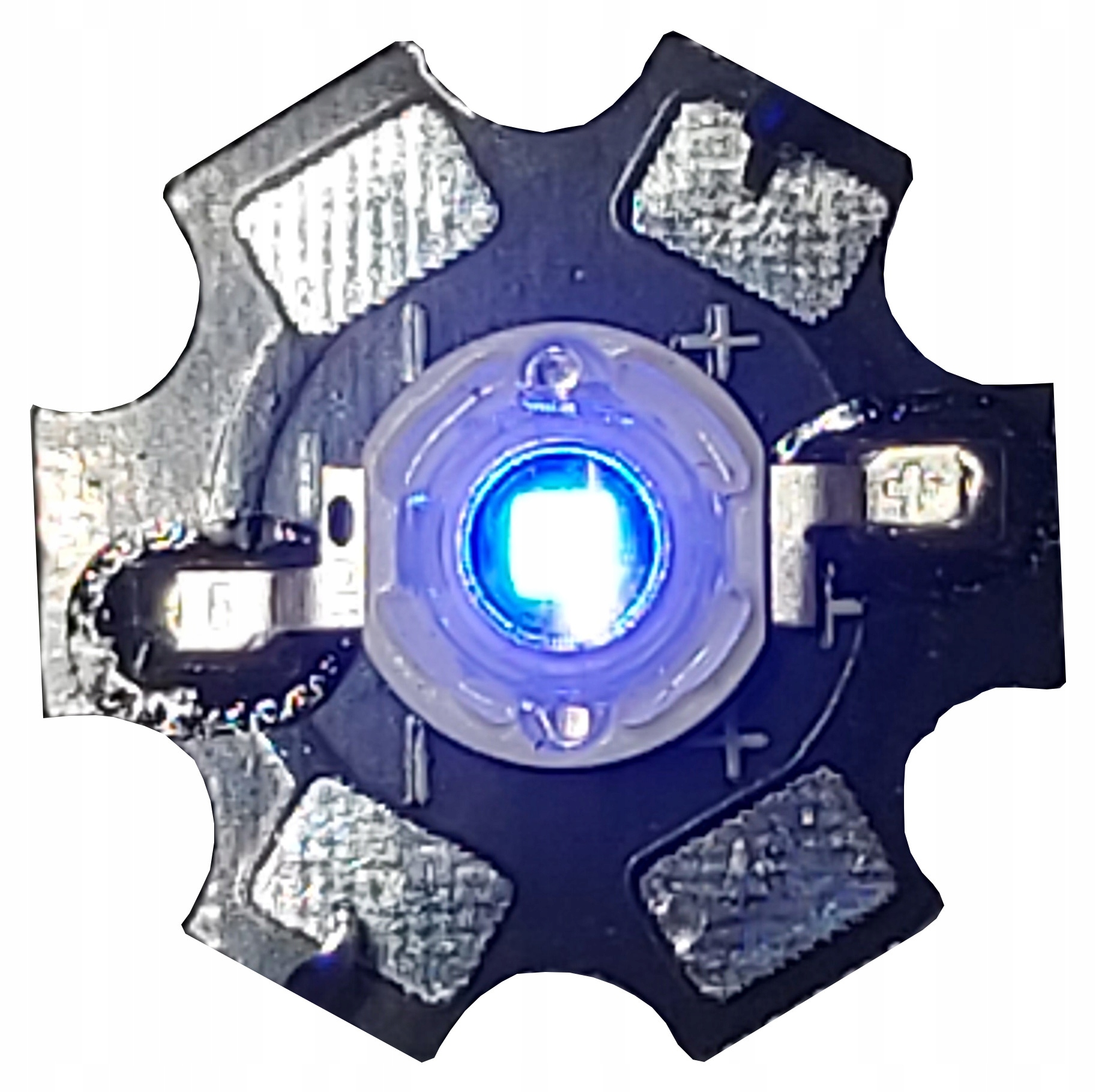 Светодиод POWER LED 1W EPISTAR Royal Blue 450nm PCB