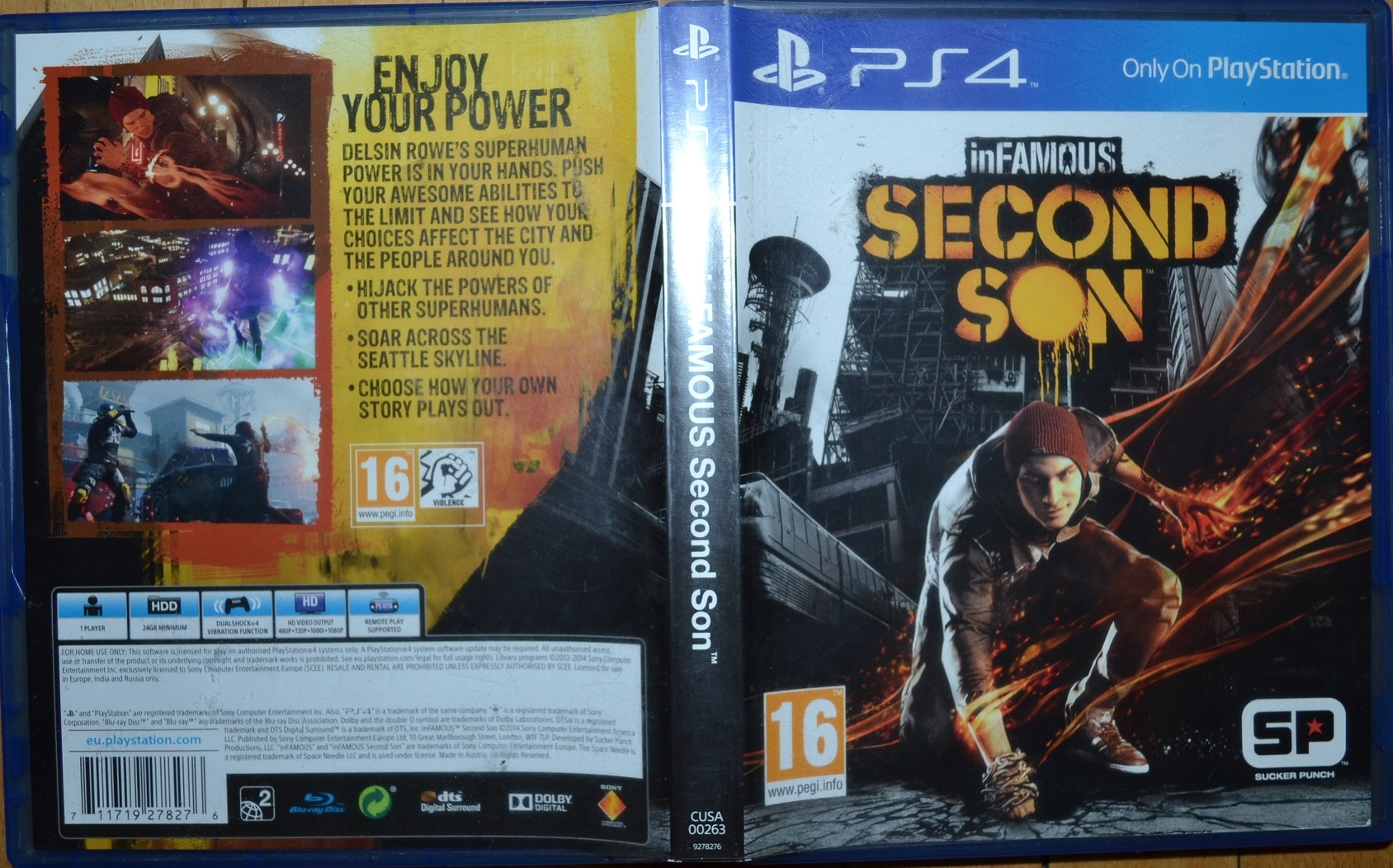 Ps4 Infamous Second Son Stan Uzywany 9092859559 Allegro Pl