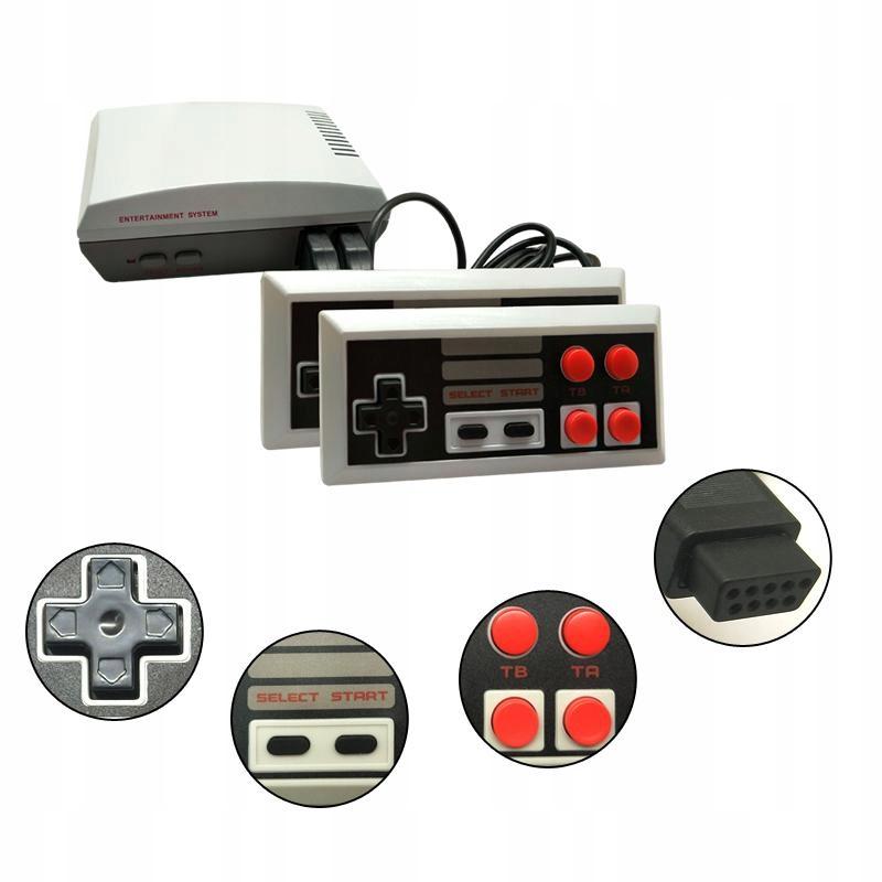 Mini televízna herná konzola v retro štýle