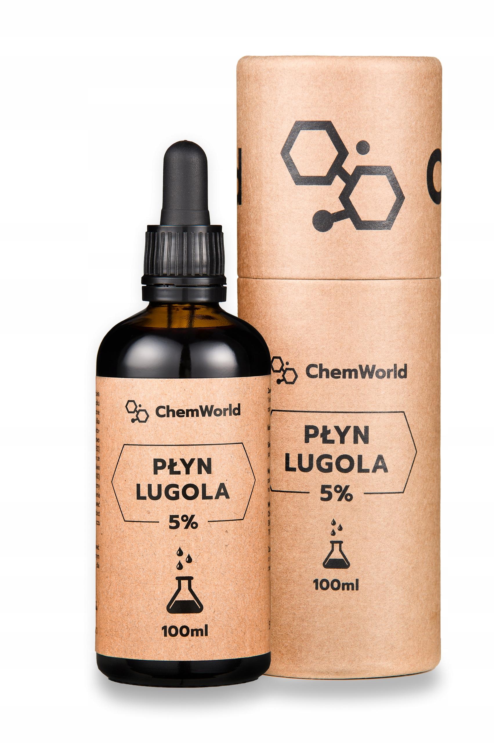 Płyn Lugola 5% 100 ml - JOD Czysty CZDA ChemWorld