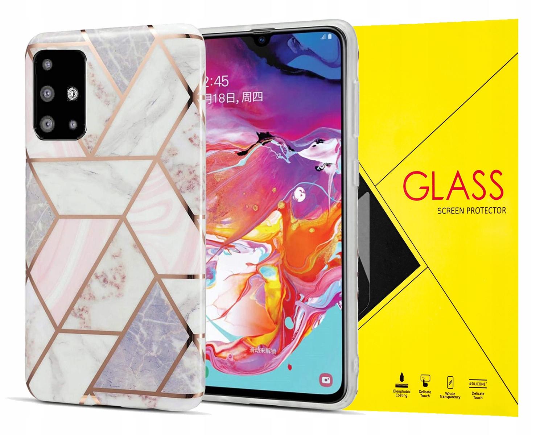Marble Case Etui Obudowa Do Galaxy A51 + Szkło