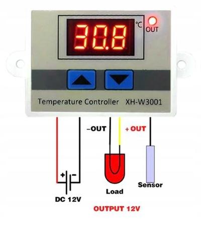 Электронный термостат регулятора температуры 12V
