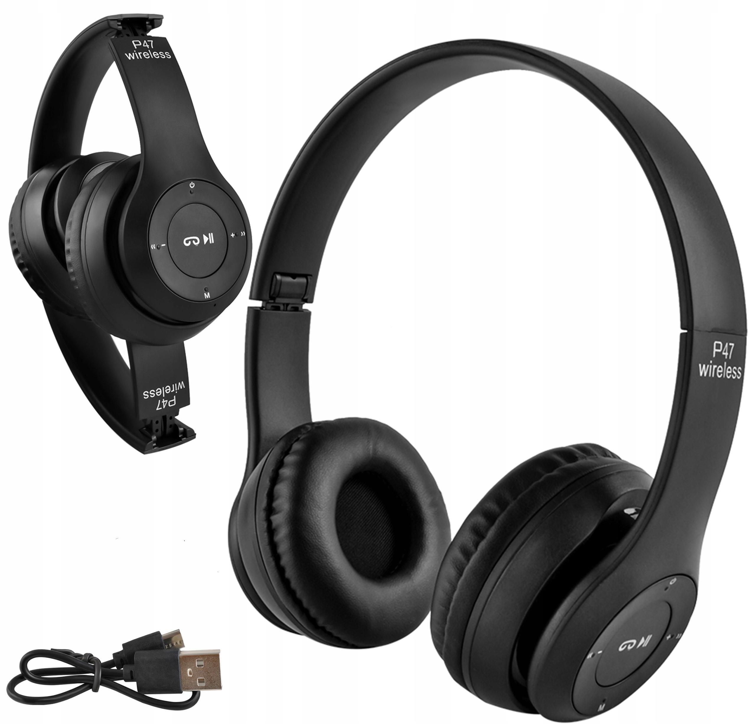Bezdrátová sluchátka Bluetooth Mikrofon FM MP3