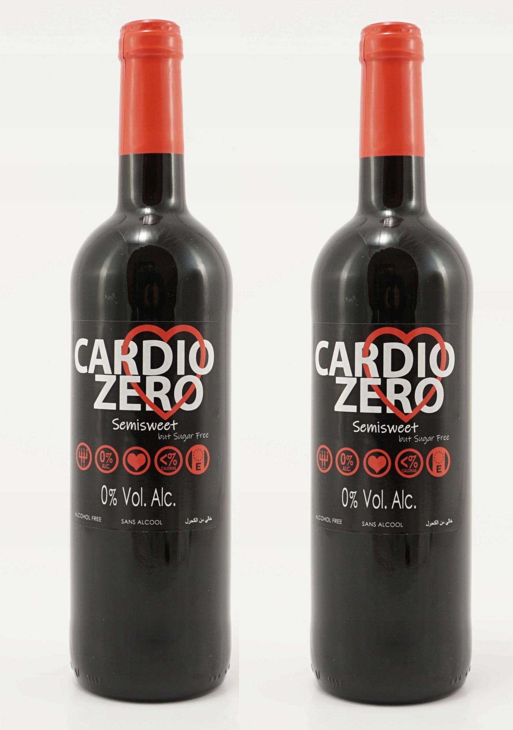Красное полусладкое безалкогольное красное вино Cardio Zero