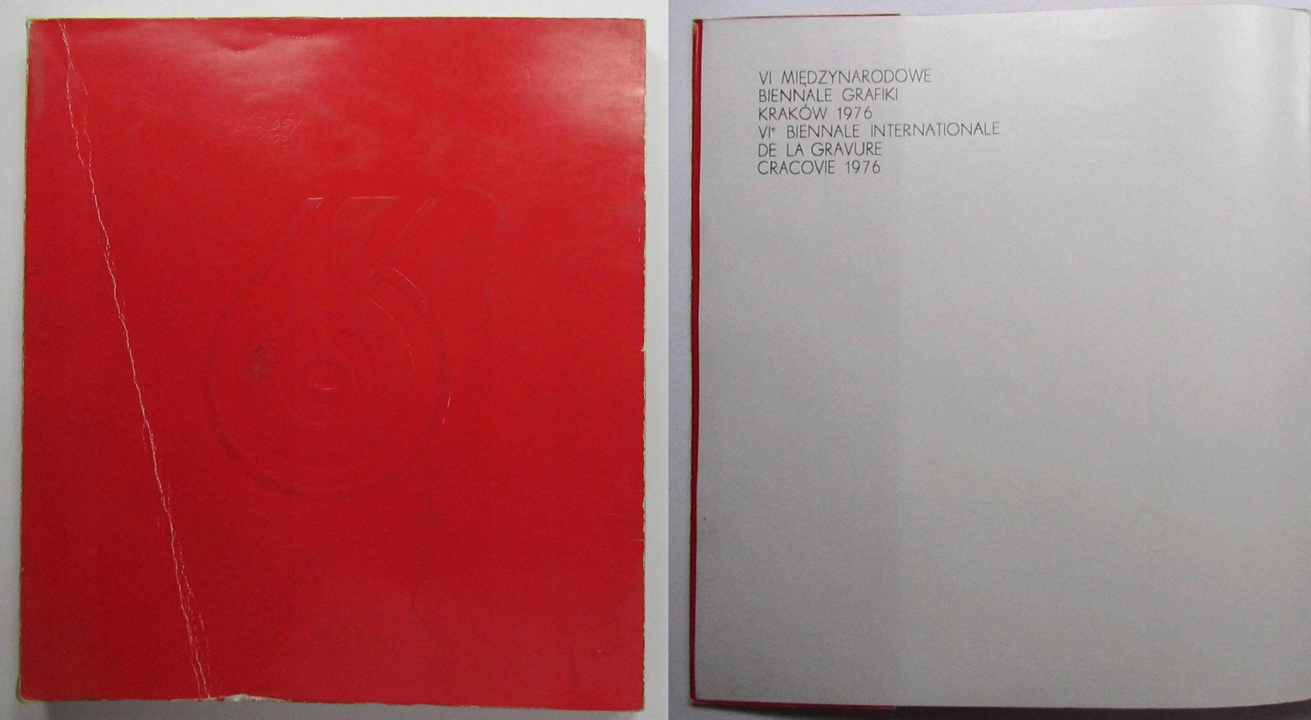 Каталог выставки 6 ГРАФИЧЕСКАЯ БИЕННАЛЕ В КРАКОВЕ 1976