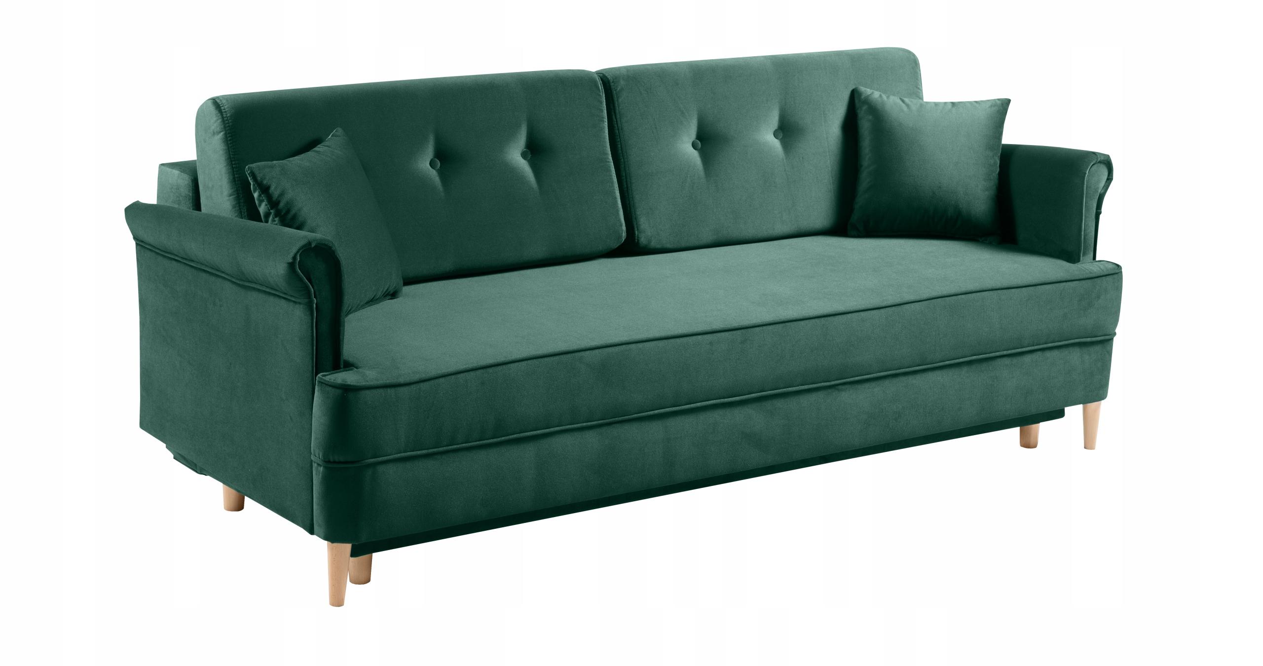 LUIS Sofa stilvolles Sofa f. Schlafbehälterfarben. Möbeltiefe 101 cm