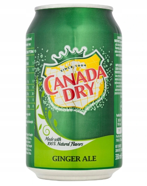 Schweppes Canada Dry Ginger Ale 330мл.