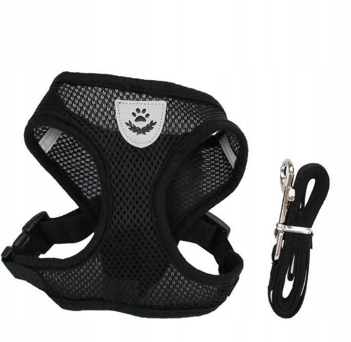 Шлейка для собак без давления с поводком - M BREATHING