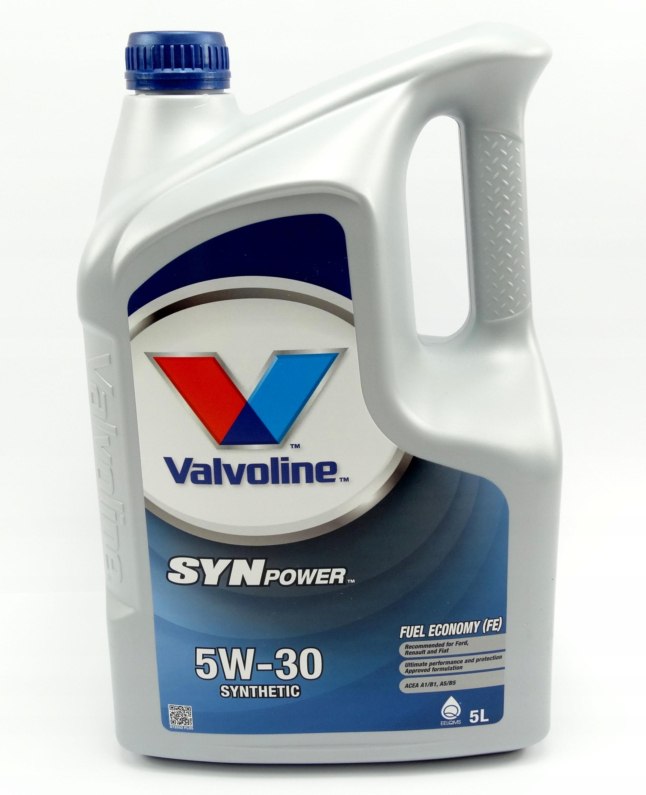 VALVOLINE SYNPOWER FE 5W30 Ford 913D A5 B5 5L